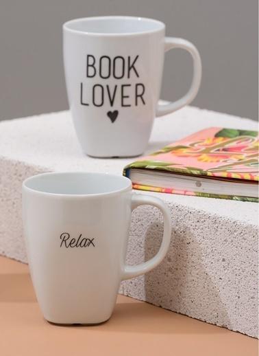 Morhipo Home Book Lover - Çift Taraflı Kupa Beyaz